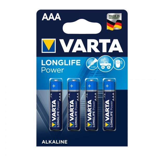 Varta Longlife Power ehem. High Energy Micro AAA Batterie 4903 LR03 (4er Blister)