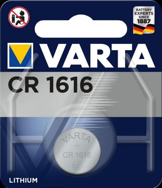Varta Electronics CR1616 Lithium Knopfzelle 3V (1er Blister) UN3090