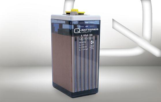 Q-Batteries 2 OPzS 100 2V 107 Ah (C10) stationäre OPzS-Batterie mit flüssigem Elektrolyt